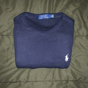 Navy blue Ralph Lauren Polo Thermal Long Sleeve.